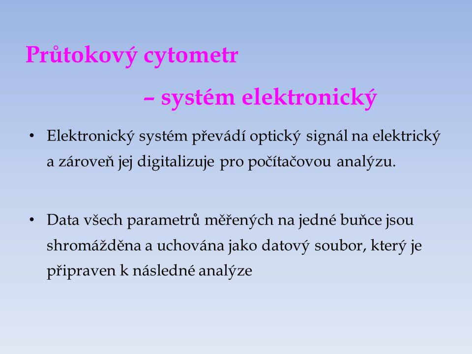 Průtokový cytometr – systém elektronický