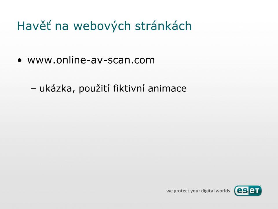 Havěť na webových stránkách