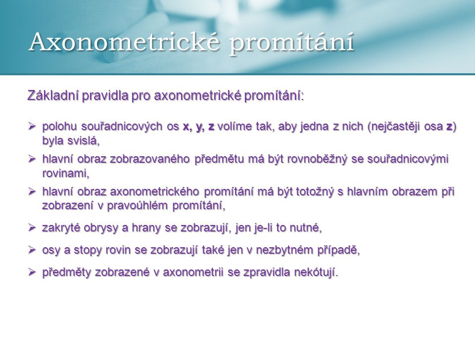Axonometrické promítání