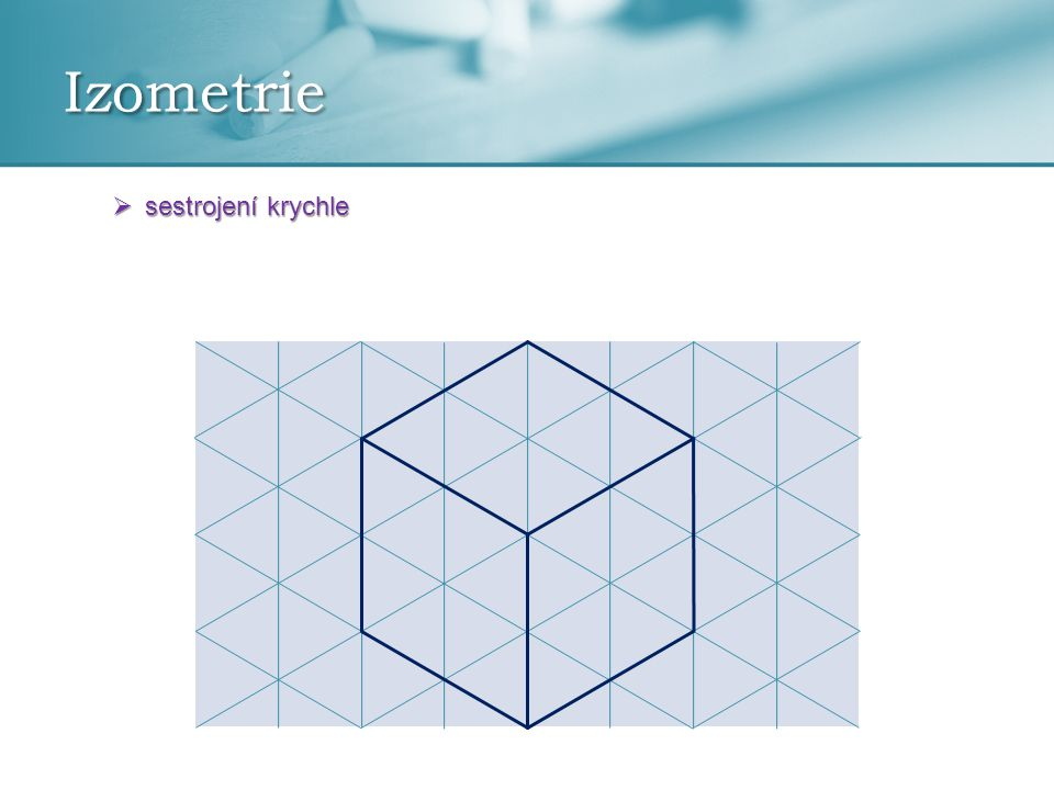 Izometrie sestrojení krychle