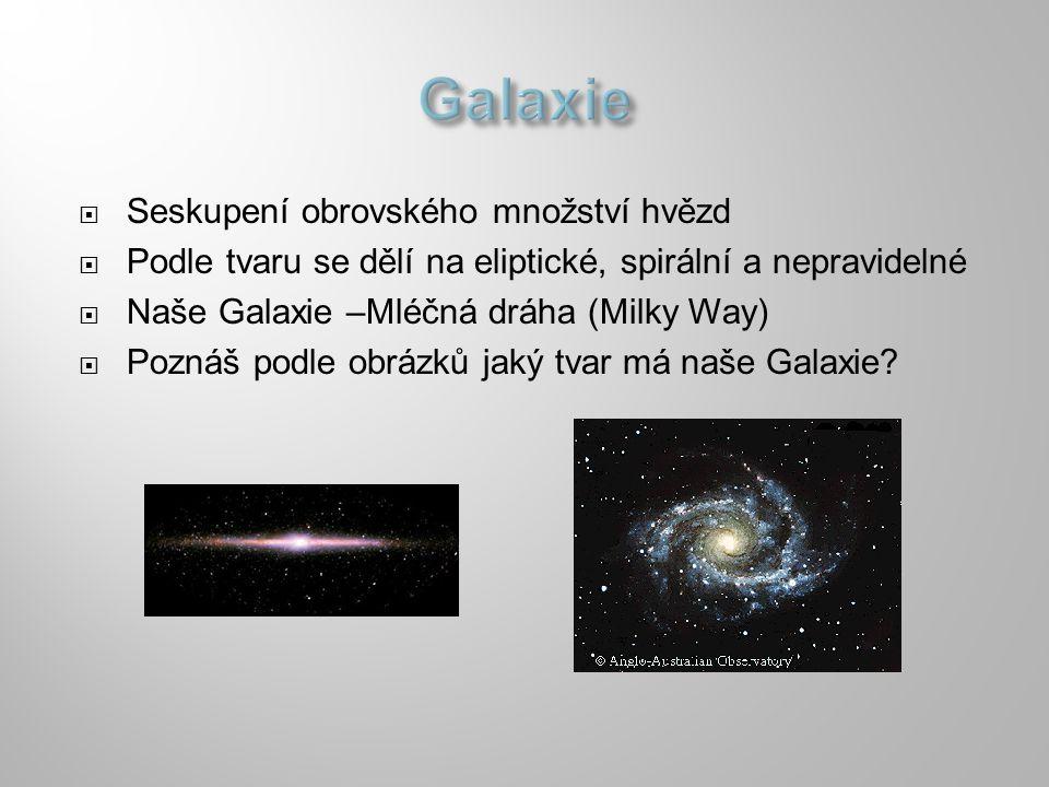 Galaxie Seskupení obrovského množství hvězd