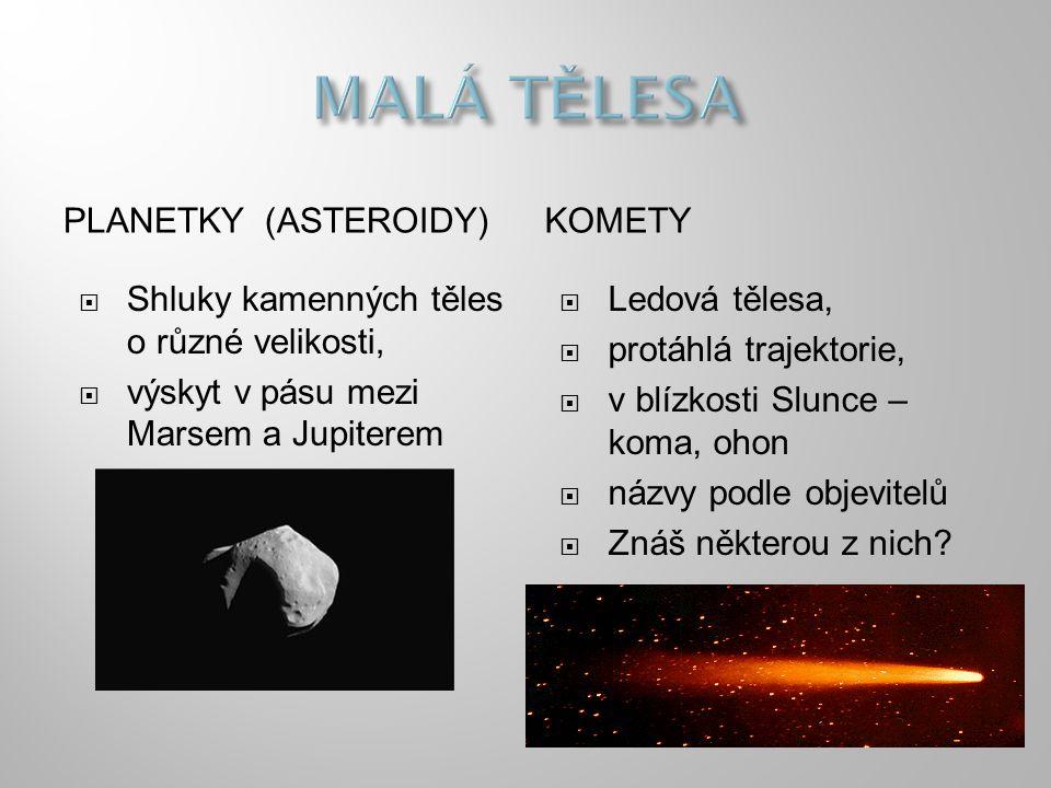 MALÁ TĚLESA PLANETKY (ASTEROIDY) KOMETY