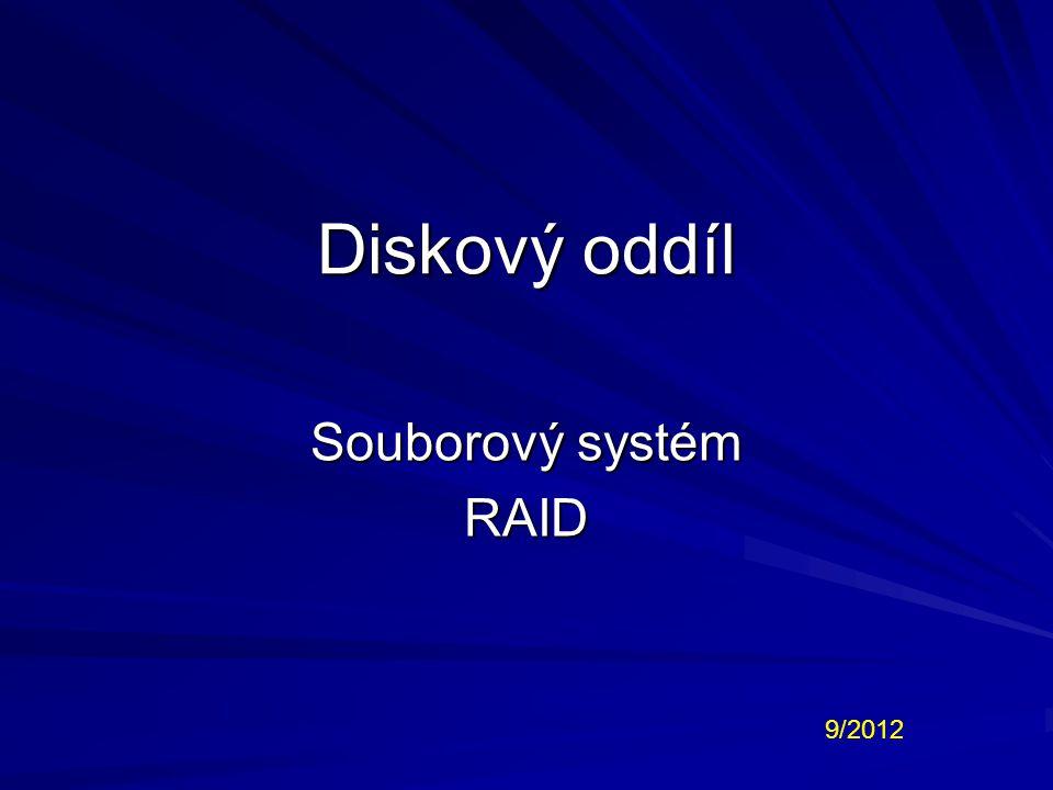 Diskový oddíl Souborový systém RAID 9/2012