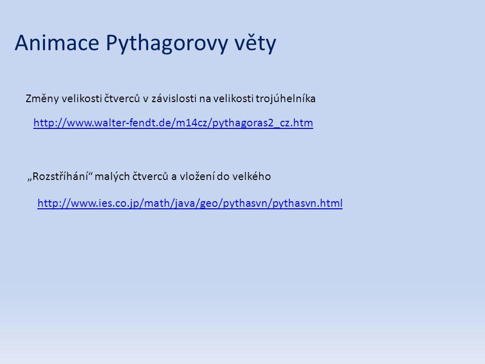 Animace Pythagorovy věty