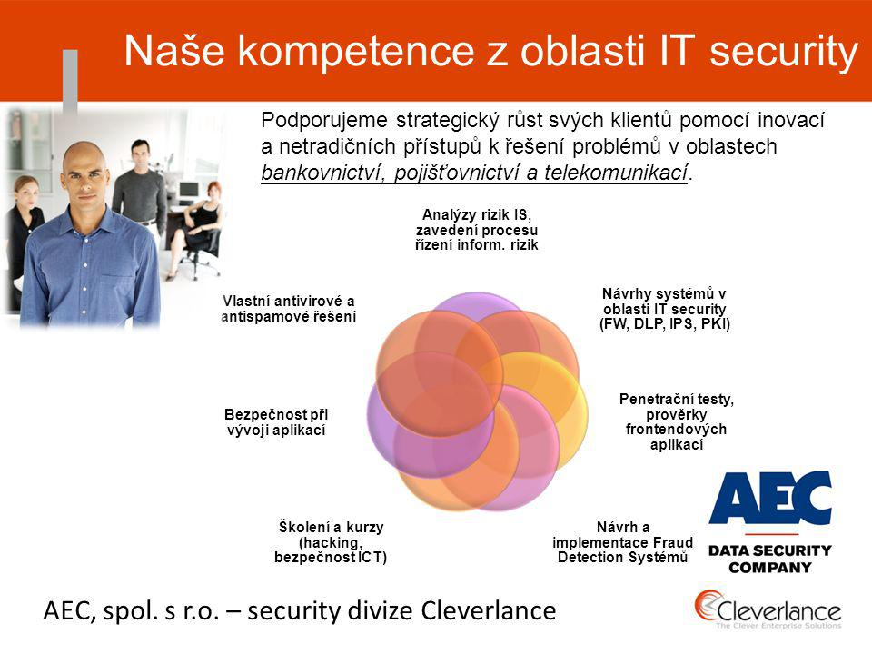Naše kompetence z oblasti IT security