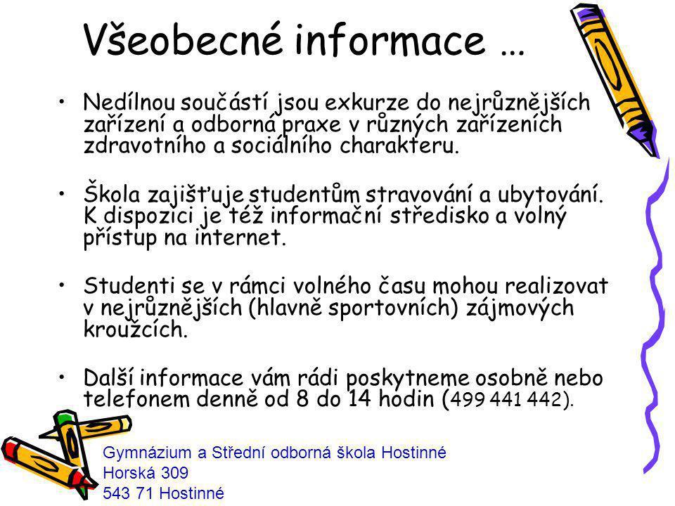 Všeobecné informace …