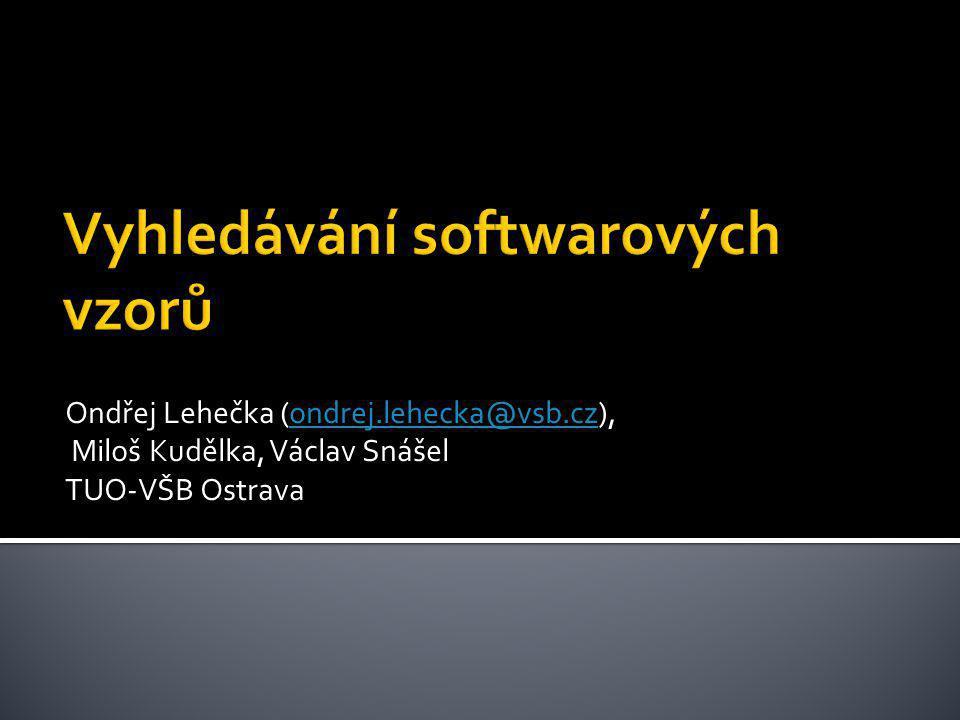 Vyhledávání softwarových vzorů