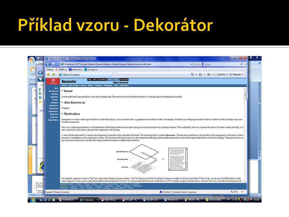 Příklad vzoru - Dekorátor