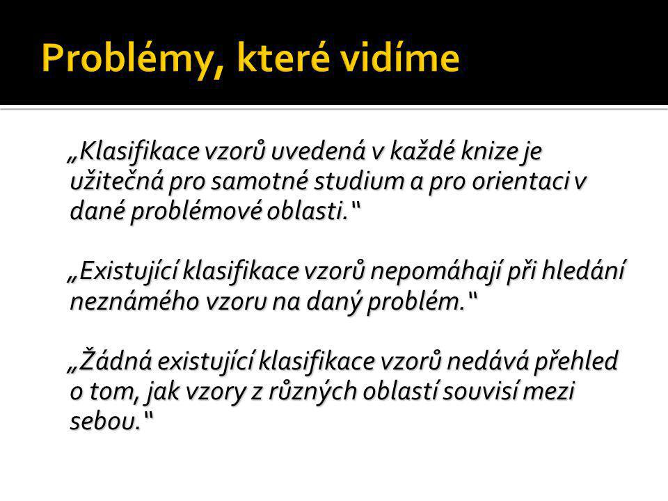 Problémy, které vidíme