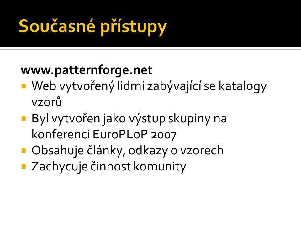 Současné přístupy www.patternforge.net
