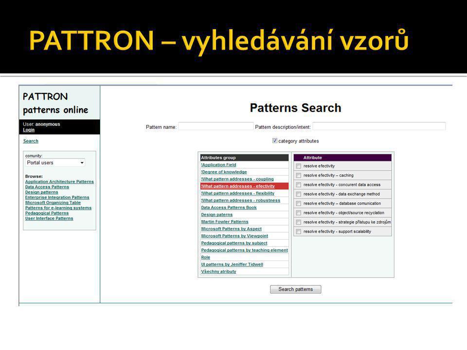 PATTRON – vyhledávání vzorů