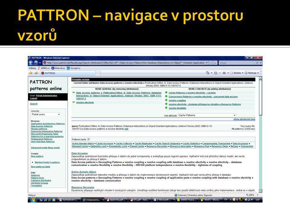 PATTRON – navigace v prostoru vzorů