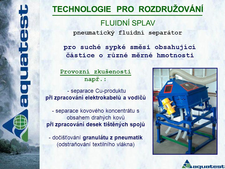 TECHNOLOGIE PRO ROZDRUŽOVÁNÍ