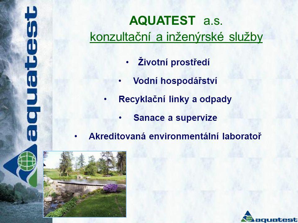 Recyklační linky a odpady Akreditovaná environmentální laboratoř