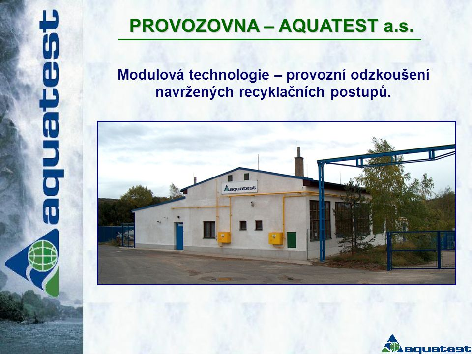 PROVOZOVNA – AQUATEST a.s.