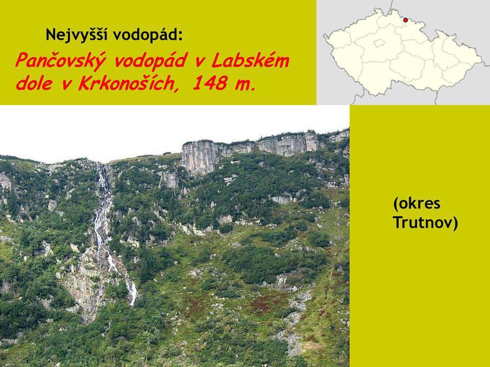Pančovský vodopád v Labském dole v Krkonoších, 148 m.