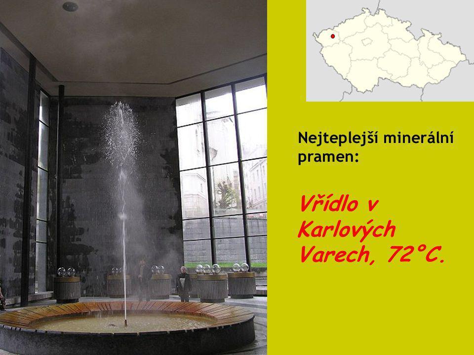 Vřídlo v Karlových Varech, 72°C.