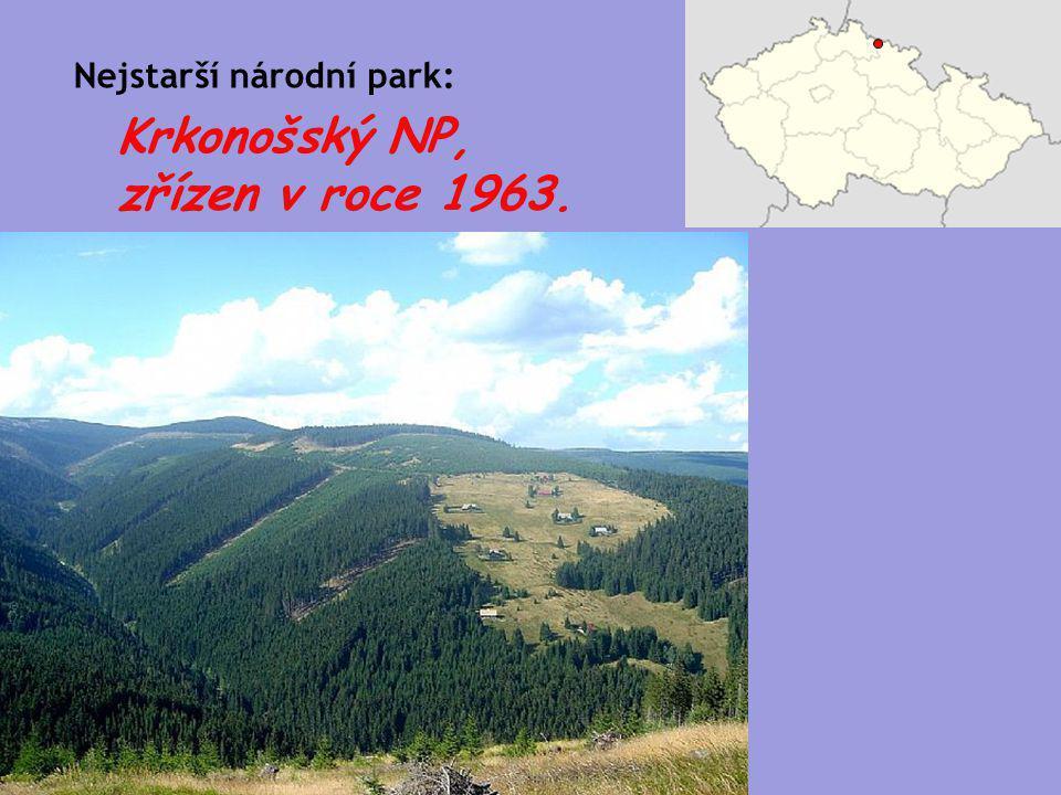Krkonošský NP, zřízen v roce 1963.