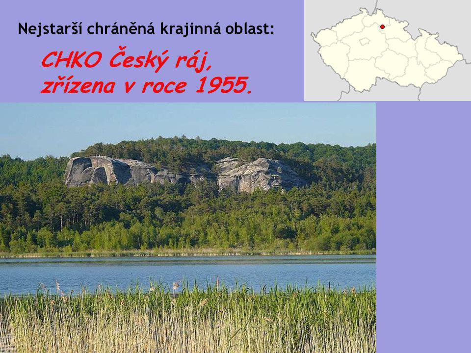 CHKO Český ráj, zřízena v roce 1955.