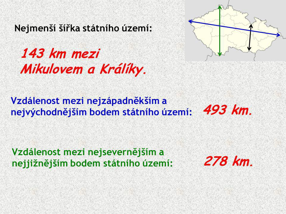 143 km mezi Mikulovem a Králíky.