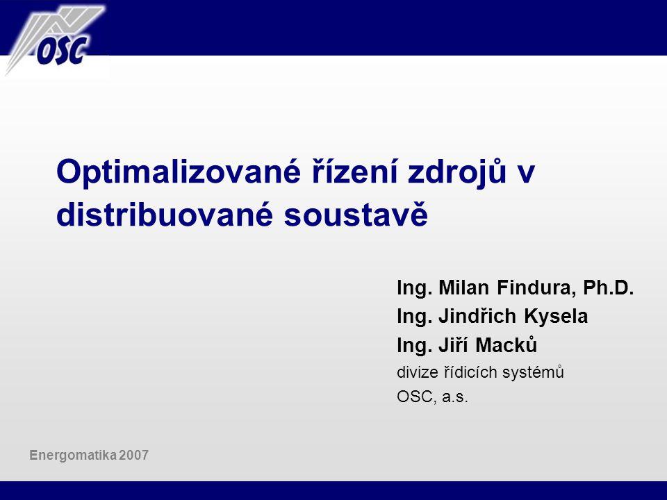 Optimalizované řízení zdrojů v distribuované soustavě
