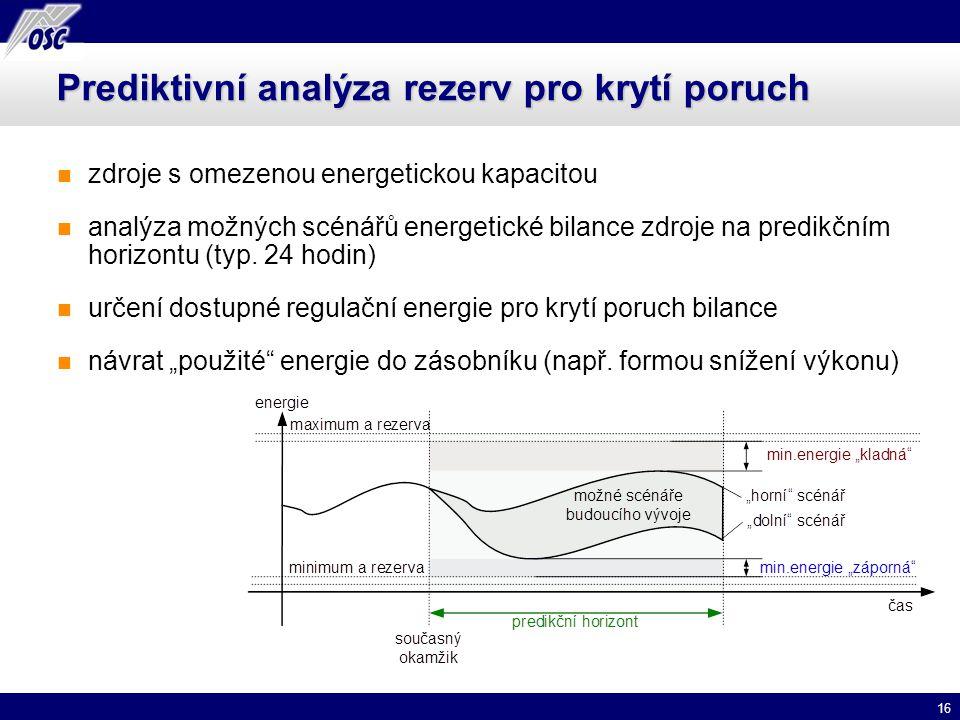 Prediktivní analýza rezerv pro krytí poruch