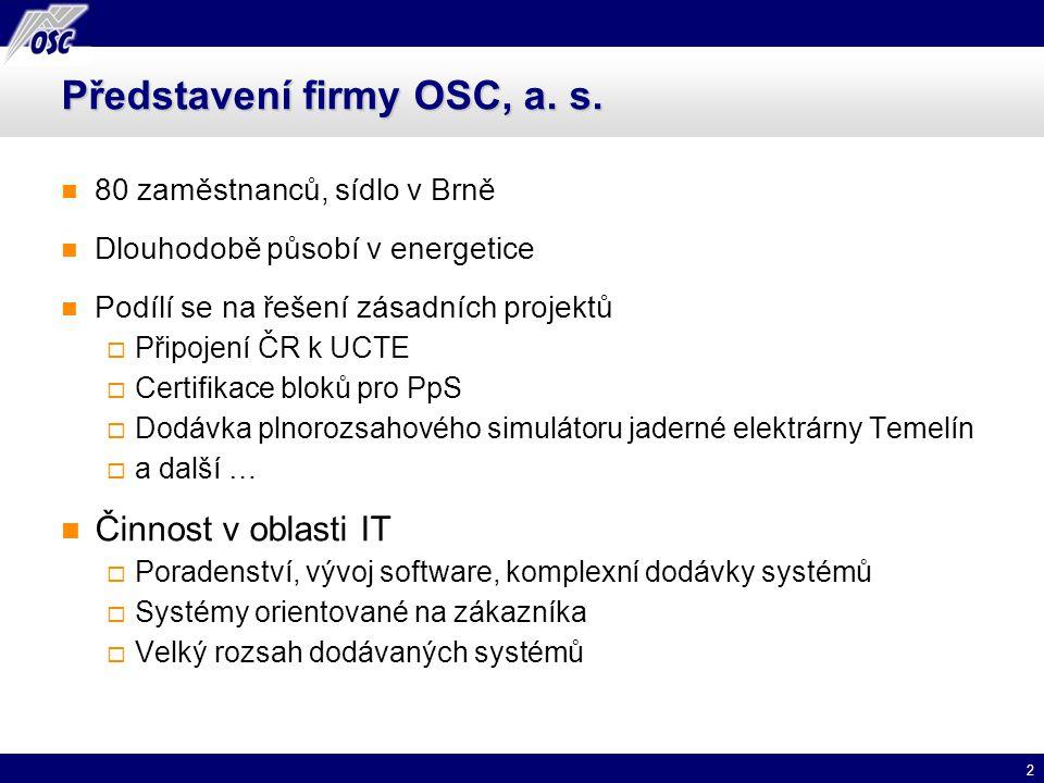Představení firmy OSC, a. s.