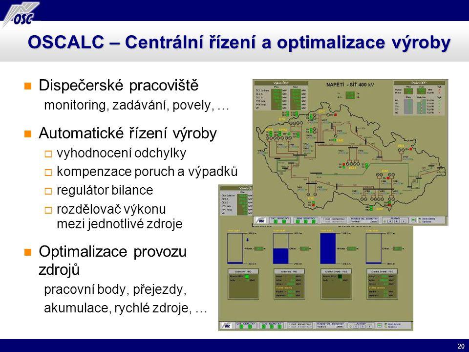 OSCALC – Centrální řízení a optimalizace výroby