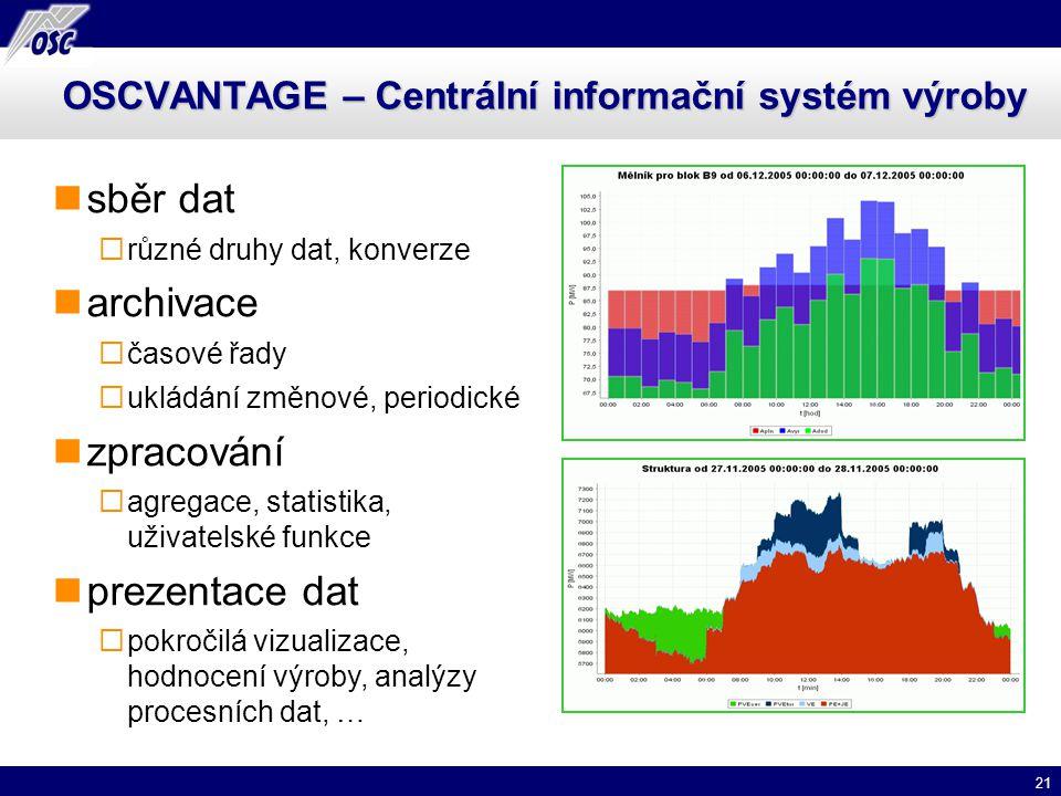 OSCVANTAGE – Centrální informační systém výroby