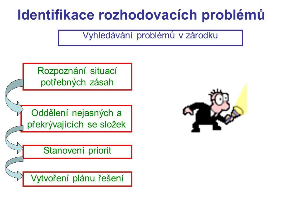 Identifikace rozhodovacích problémů