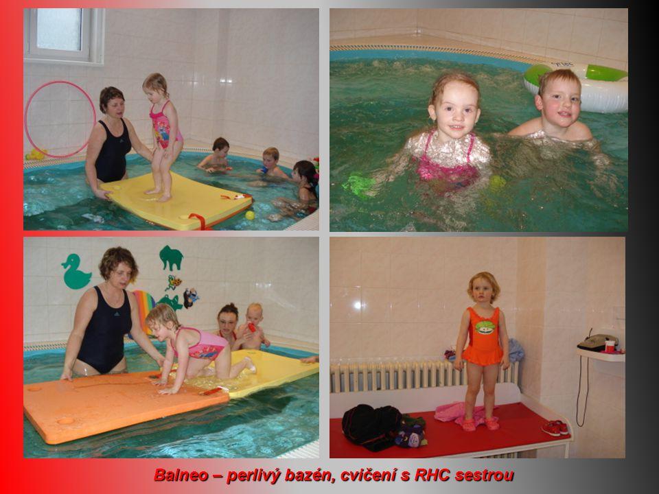 Balneo – perlivý bazén, cvičení s RHC sestrou