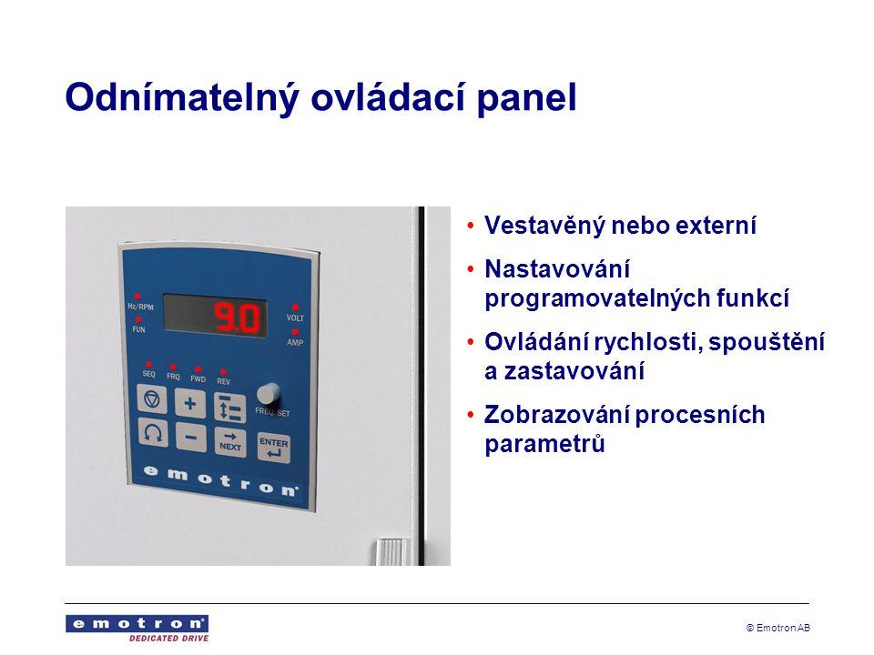 Odnímatelný ovládací panel