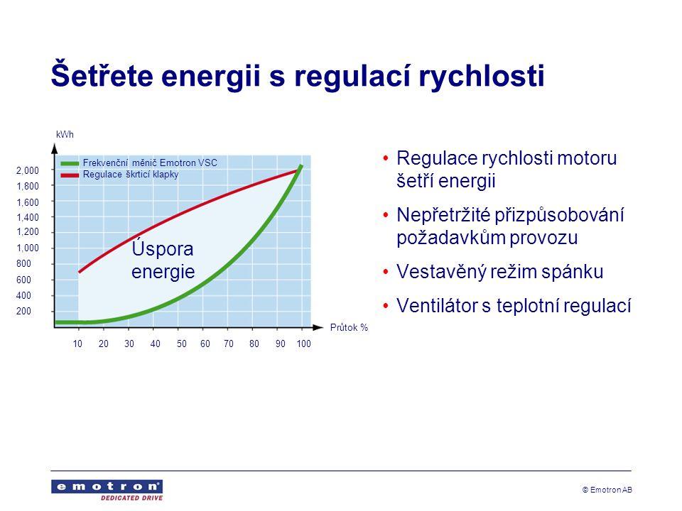 Šetřete energii s regulací rychlosti