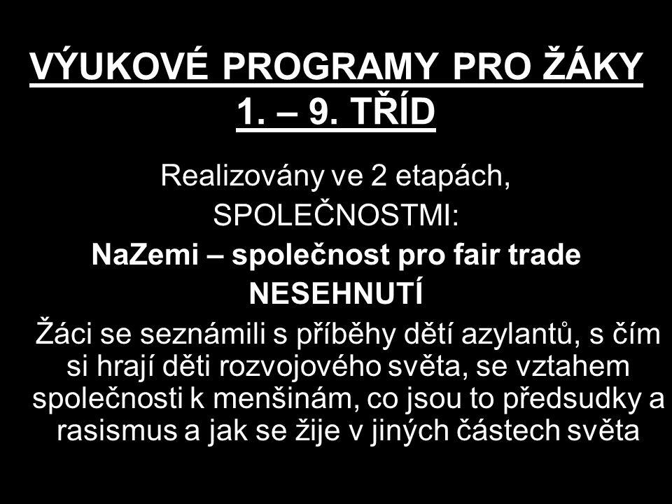 VÝUKOVÉ PROGRAMY PRO ŽÁKY 1. – 9. TŘÍD