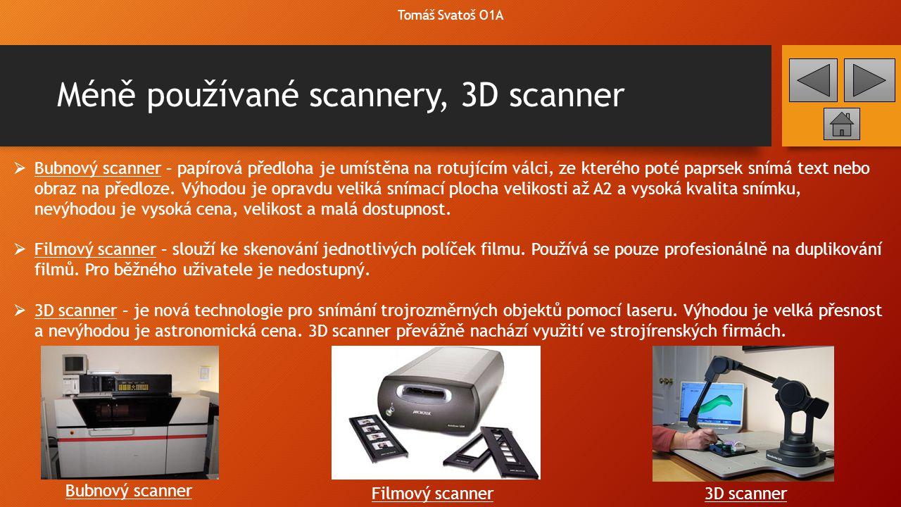 Méně používané scannery, 3D scanner