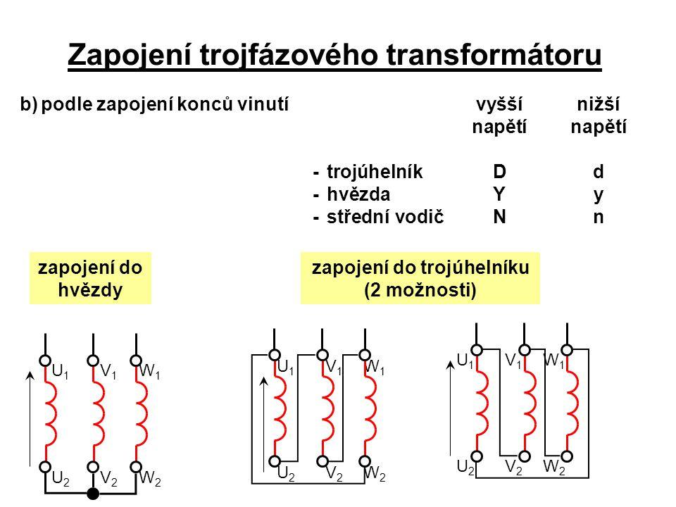 Zapojení trojfázového transformátoru