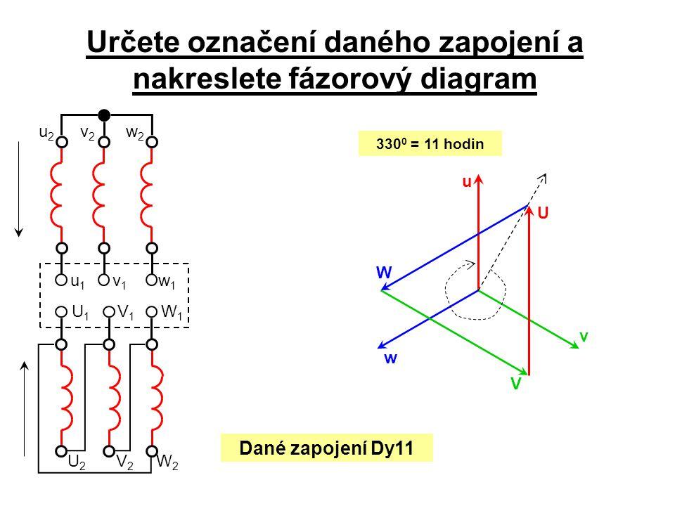 Určete označení daného zapojení a nakreslete fázorový diagram