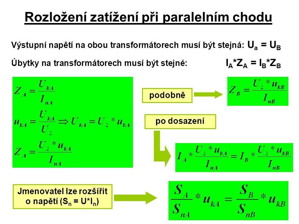 Rozložení zatížení při paralelním chodu