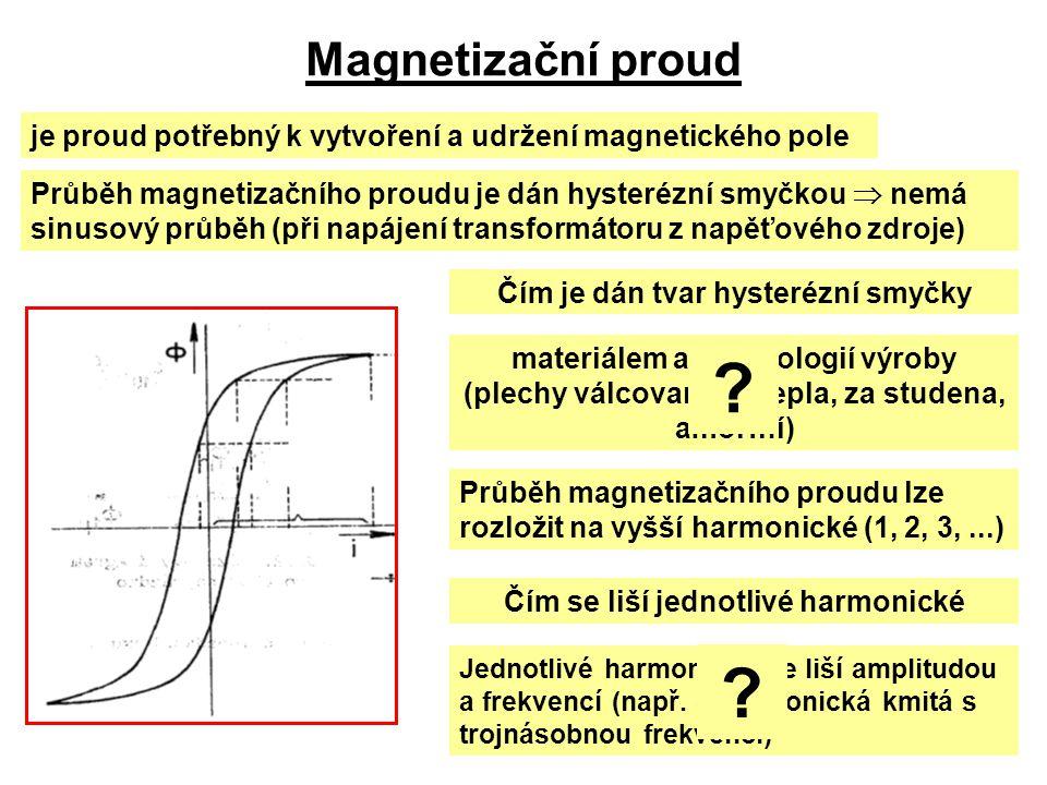 Čím je dán tvar hysterézní smyčky Čím se liší jednotlivé harmonické