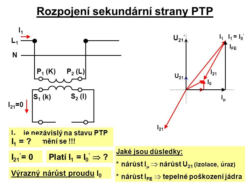 Rozpojení sekundární strany PTP