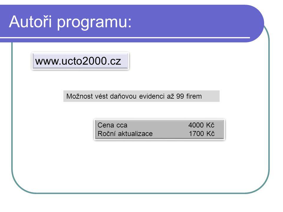 Autoři programu: www.ucto2000.cz
