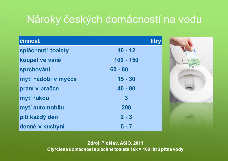 Nároky českých domácností na vodu