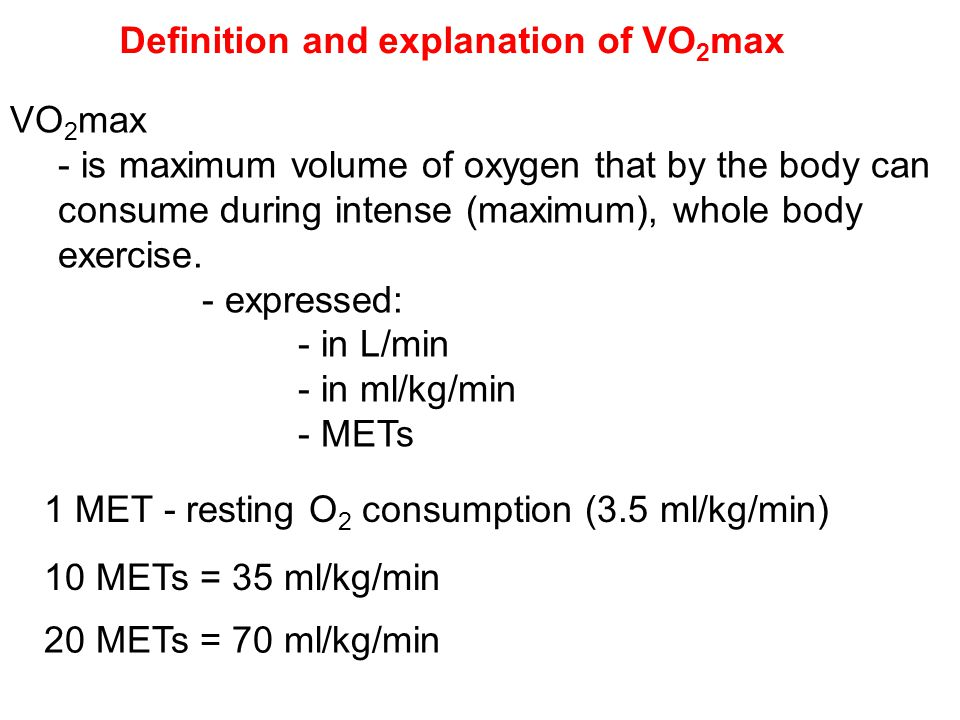 Definition and explanation of VO2max