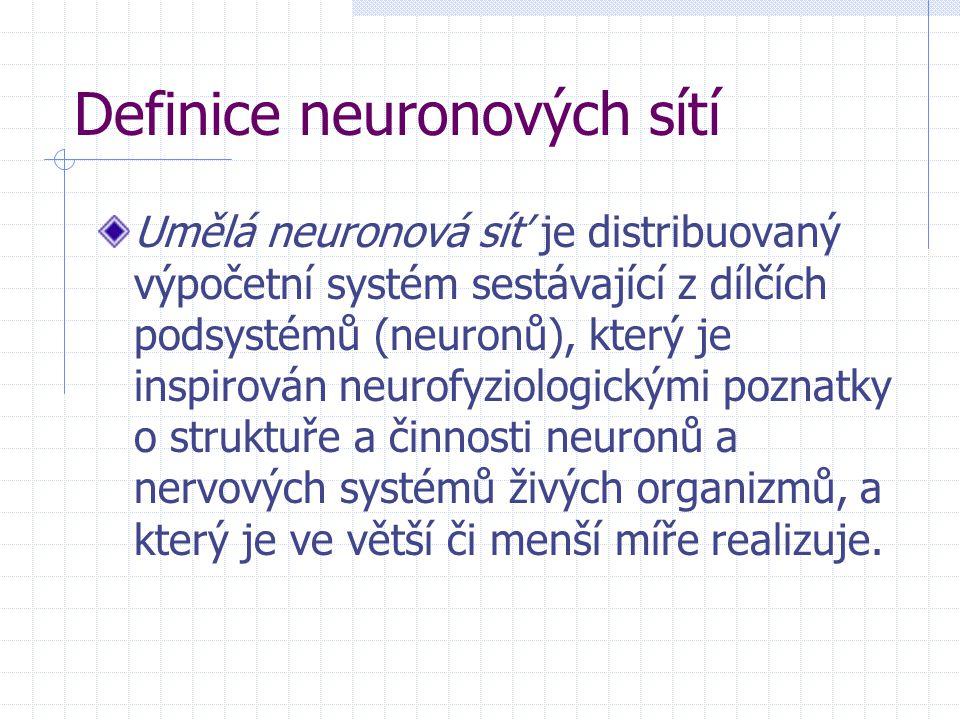 Definice neuronových sítí