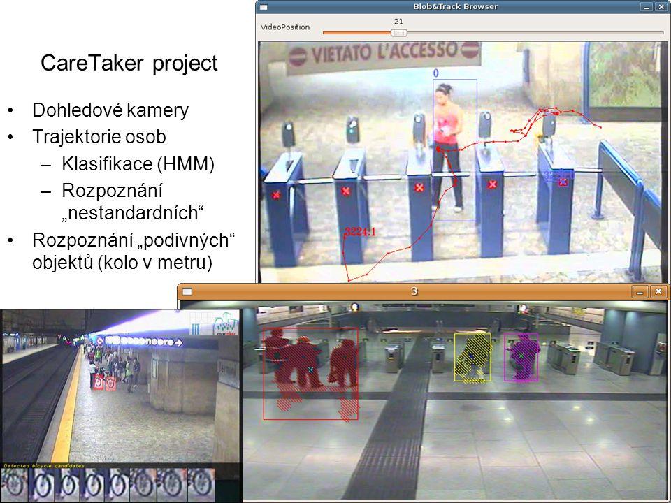 CareTaker project Dohledové kamery Trajektorie osob Klasifikace (HMM)