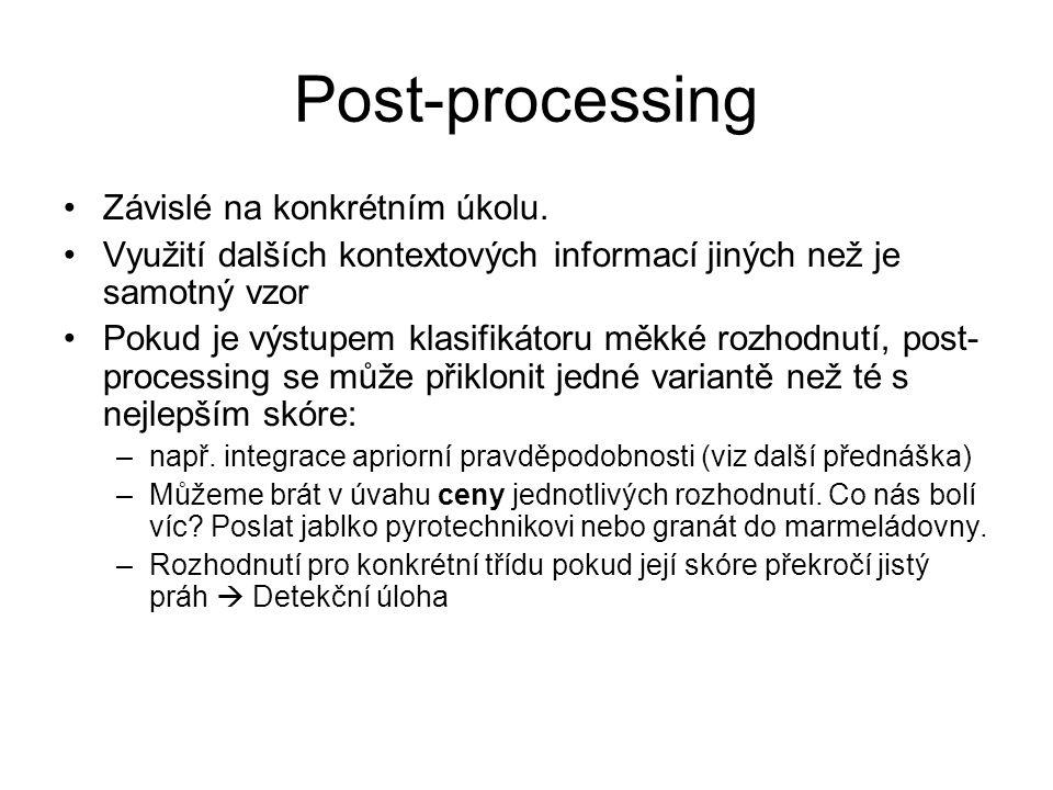 Post-processing Závislé na konkrétním úkolu.