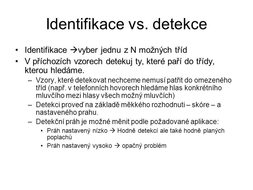 Identifikace vs. detekce
