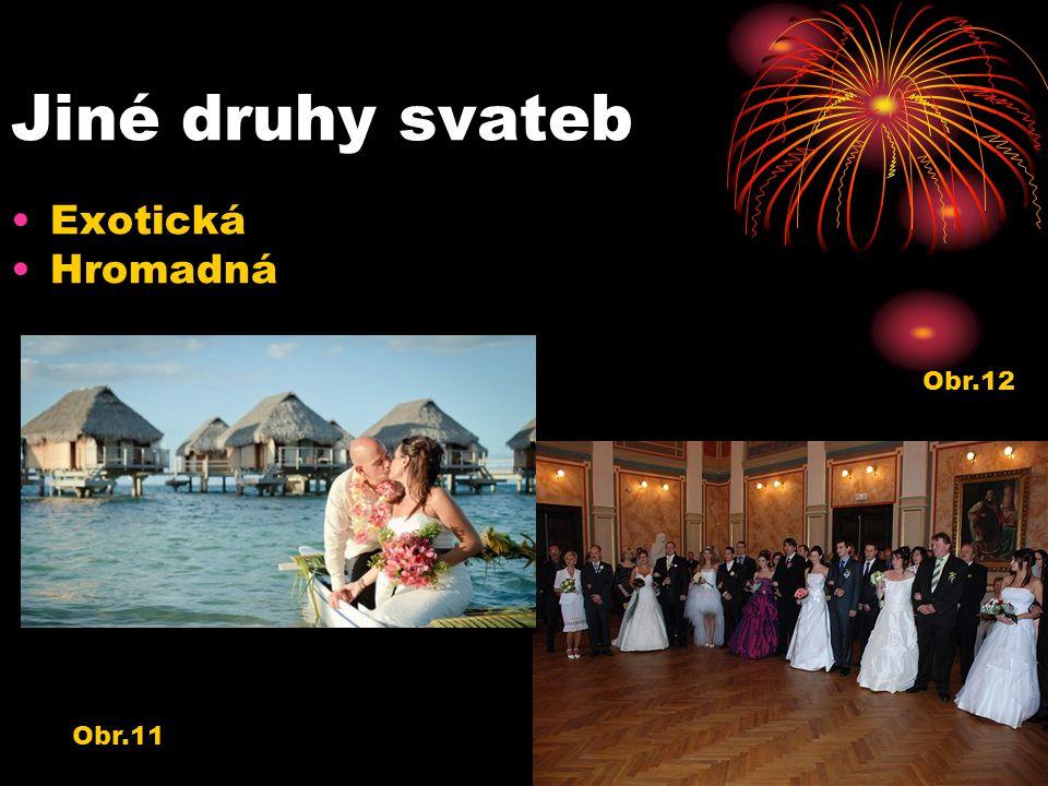 Jiné druhy svateb Exotická Hromadná Obr.12 Obr.11