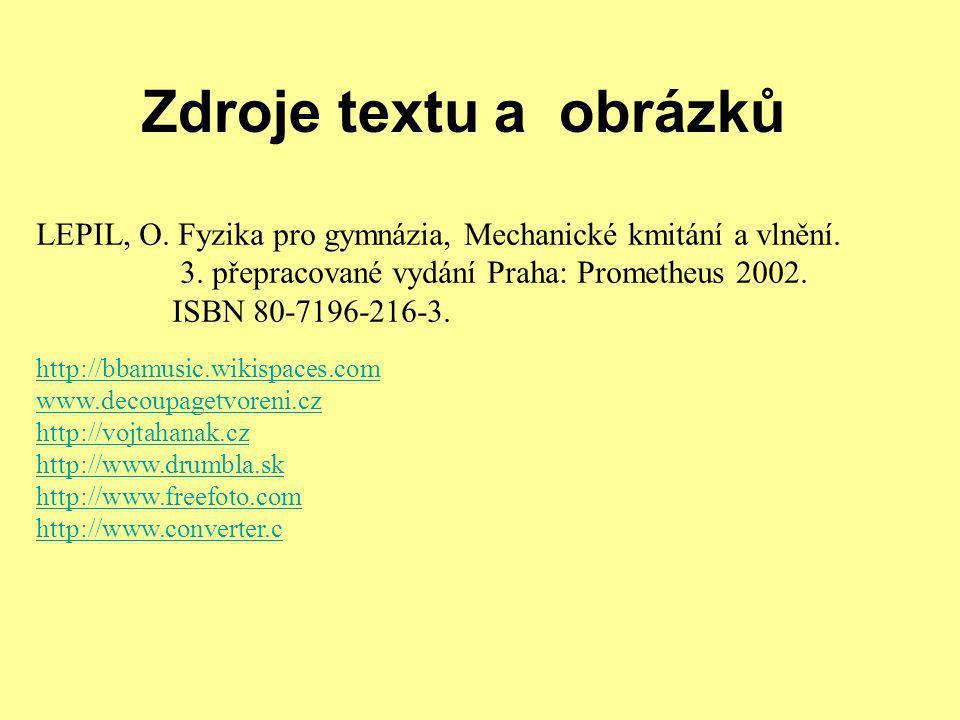 Zdroje textu a obrázků