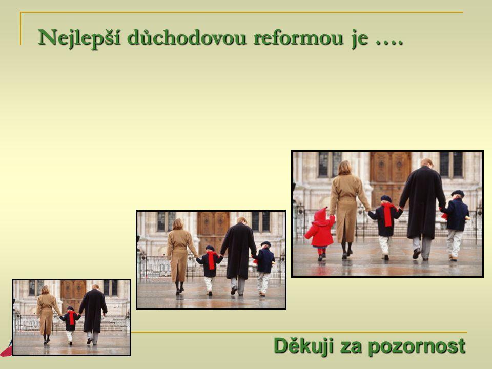 Nejlepší důchodovou reformou je ….